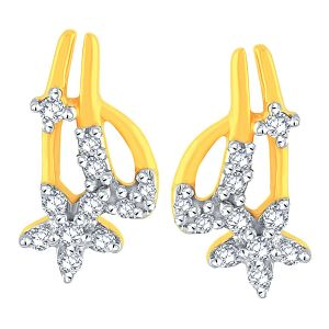 Buy Maya Diamond Yellow Gold Diamond Earrings Ade00773si-jk18y online
