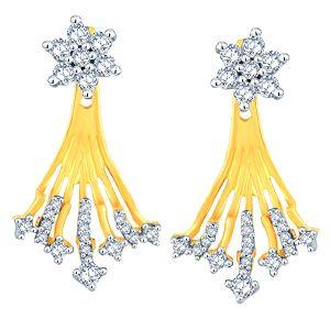 Buy Nakshatra Yellow Gold Diamond Earrings Abe015si-jk18y online
