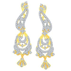 Buy Asmi Yellow Gold Diamond Earrings Ade00592si-jk18y online