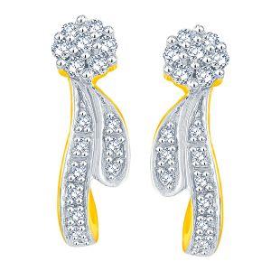 Buy Sangini Yellow Gold Diamond Earrings Nerc341si-jk18y online