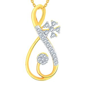 Buy Maya Diamond Yellow Gold Diamond Pendant Adp00677si-jk18y online
