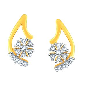 Buy Nakshatra Yellow Gold Diamond Earrings Ade01435si-jk18y online