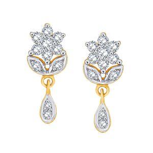 Buy Nakshatra Yellow Gold Diamond Earrings Nera064si-jk18y online