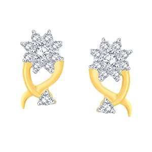 Buy Nakshatra Yellow Gold Diamond Earrings Nerc467si-jk18y online