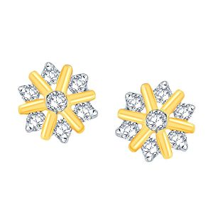Buy Nakshatra Yellow Gold Diamond Earrings Nnper023si-jk18y online
