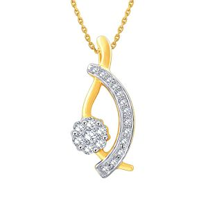 Buy Maya Diamond Yellow Gold Diamond Pendant Npc346si-jk18y online