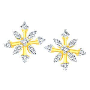 Buy Sangini Yellow Gold Diamond Earrings Pra1e3510si-jk18y online