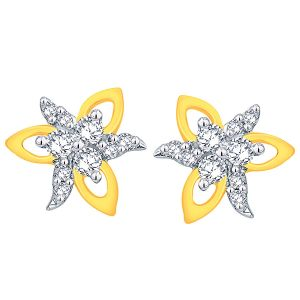 Buy Shuddhi Yellow Gold Diamond Earrings online