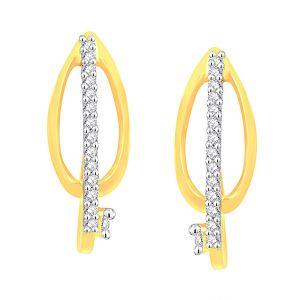 Buy Shuddhi Yellow Gold Diamond Earrings online