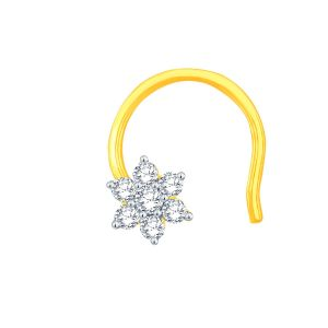Buy Nakshatra Yellow Gold Diamond Nosepin online