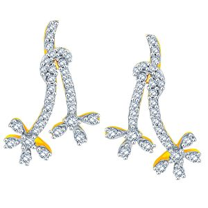 Buy Asmi Yellow Gold Diamond Earrings Aaep617si-jk18y online