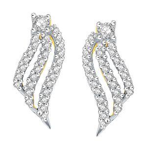 Buy Asmi Yellow Gold Diamond Earrings Aaep651si-jk18y online
