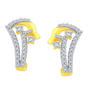 Buy Gili Yellow Gold Diamond Earrings Aaet091si-jk18y online