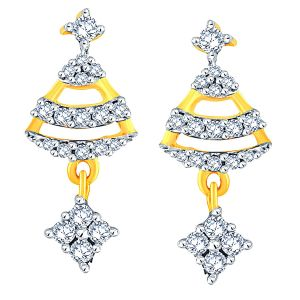 Buy Sangini Yellow Gold Diamond Earrings Aaet117si-jk18y online
