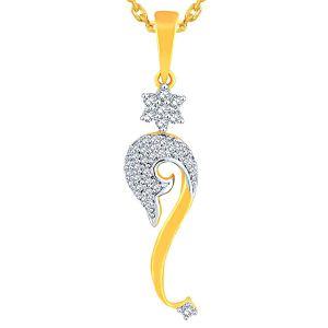 Buy Nakshatra Yellow Gold Diamond Pendant Aap337si-jk18y online