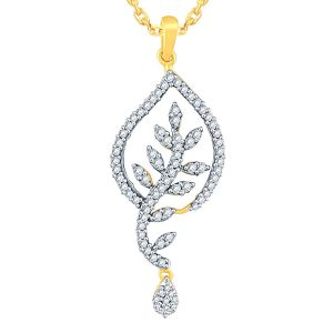 Buy Asmi Yellow Gold Diamond Pendant Aap407si-jk18y online
