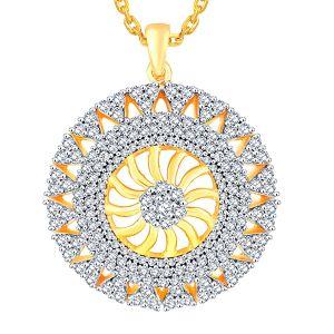Buy Nirvana Yellow Gold Diamond Pendant Aap504si-jk18y online