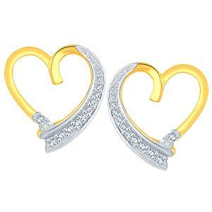 Buy Maya Diamond Yellow Gold Diamond Earrings Apse8034si-jk18y online