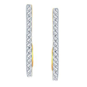 Buy Gili Yellow Gold Diamond Earrings Baep616si-jk18y online