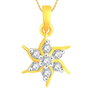 Buy Nakshatra Yellow Gold Diamond Pendant Npa110si-jk18y online