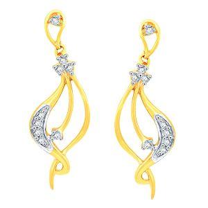 Buy Asmi Yellow Gold Diamond Earrings Yek178si-jk18y online