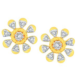 Buy Gili Yellow Gold Diamond Earrings Aaep012si-jk18y online