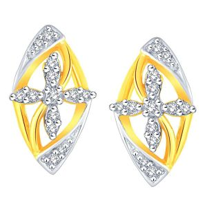 Buy Asmi Yellow Gold Diamond Earrings Aaep015si-jk18y online
