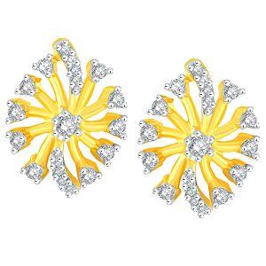 Buy Sangini Yellow Gold Diamond Earrings Aaep406si-jk18y online