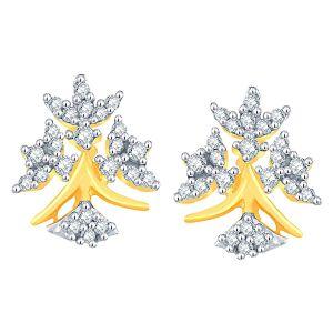 Buy Sangini Yellow Gold Diamond Earrings online