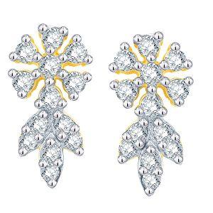 Buy Nakshatra Yellow Gold Diamond Earrings Aaet083si-jk18y online