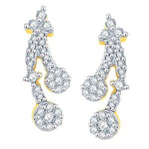 Buy Nirvana Yellow Gold Diamond Earrings Aaet090si-jk18y online