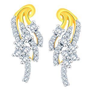 Buy Sangini Yellow Gold Diamond Earrings Aaet153si-jk18y online