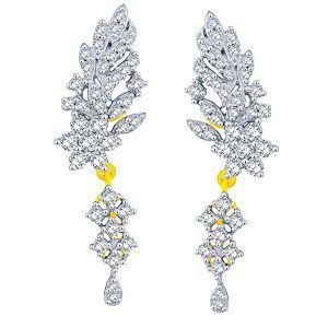 Buy Nakshatra Yellow Gold Diamond Earrings Abe029si-jk18y online