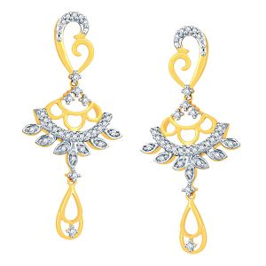 Buy Gili Yellow Gold Diamond Earrings Ade00951si-jk18y online