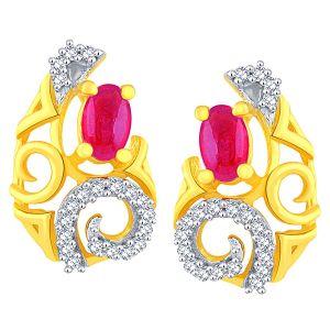 Buy Gili Yellow Gold Diamond Earrings Baep609si-jk18y online