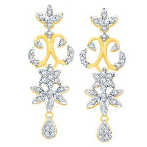 Buy Nakshatra Yellow Gold Diamond Earrings Nerb211si-jk18y online
