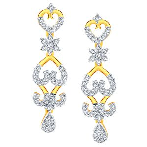 Buy Nakshatra Yellow Gold Diamond Earrings Nerb289si-jk18y online