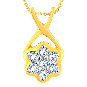 Buy Nakshatra Yellow Gold Diamond Pendant Ap176si-jk18y online