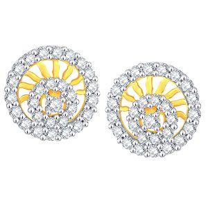 Buy Gili Yellow Gold Diamond Earrings Ade00632si-jk18y online
