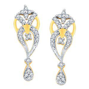 Buy Gili Yellow Gold Diamond Earrings Dde00243si-jk18y online