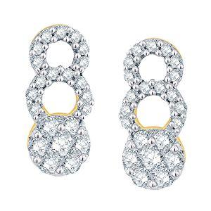 Buy Nirvana Yellow Gold Diamond Earrings Ie879si-jk18y online