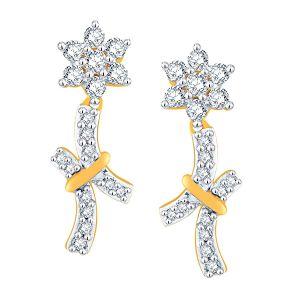 Buy Nakshatra Yellow Gold Diamond Earrings Nerc009si-jk18y online