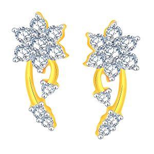 Buy Nakshatra Yellow Gold Diamond Earrings Ae920si-jk18y online