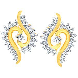 Buy Asmi Yellow Gold Diamond Earrings Pra1e3629si-jk18y online