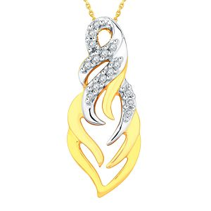 Buy Maya Diamond Yellow Gold Diamond Pendant Idp00404si-jk18y online
