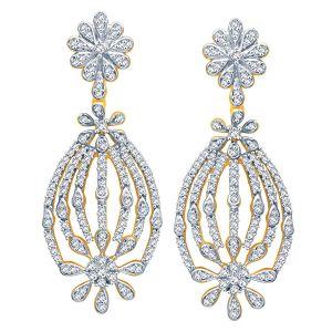 Buy Gili Yellow Gold Diamond Earrings Oen654si-jk18y online