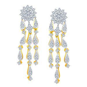 Buy Nirvana Yellow Gold Diamond Earrings Tek122si-jk18y online