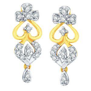 Buy Shuddhi Yellow Gold Diamond Earrings Ade01293si-jk18y online