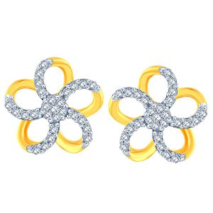 Buy Gili Yellow Gold Diamond Earrings Ie857si-jk18y online