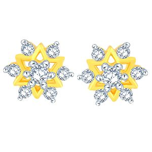 Buy Nakshatra Yellow Gold Diamond Earrings Nera024si-jk18y online